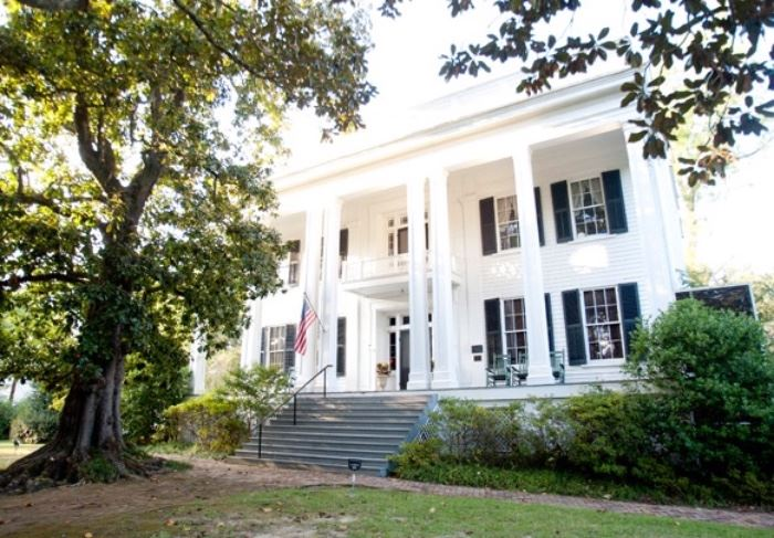 Nearly all of the furniture and many accessories came from the family home in Aberdeen, The Magnolias built in 1850. (Sorry our original post said The Homestead, which we learned belonged to a relative.)