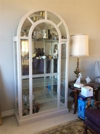 Rounded top curio or display cabinet