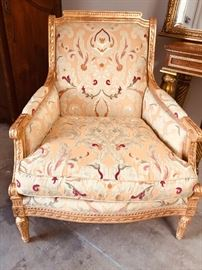 Louis XVI carved chairs with 22K gold gilt.  Originally $5000.00 each.
