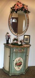 Floral Cabinet / Cloral Mirror