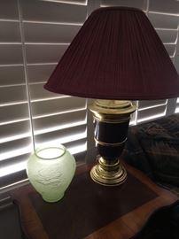 2 Burgundy Lamps