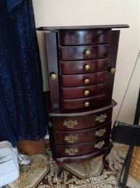 jewelry armoire, we have gold, sterling & costume