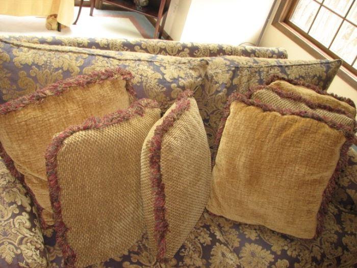 Plunkett loveseat with plush pillows