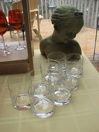Thumbprint Manhattan glasses,