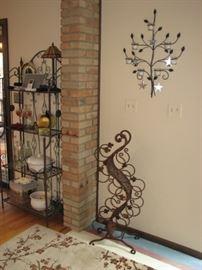 wall sculpture / sconce, curvilinear wine tree