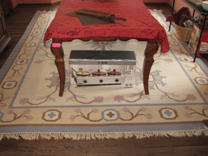 Large dining area rug