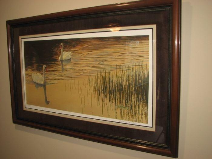Robert Bateman wildlife - swans