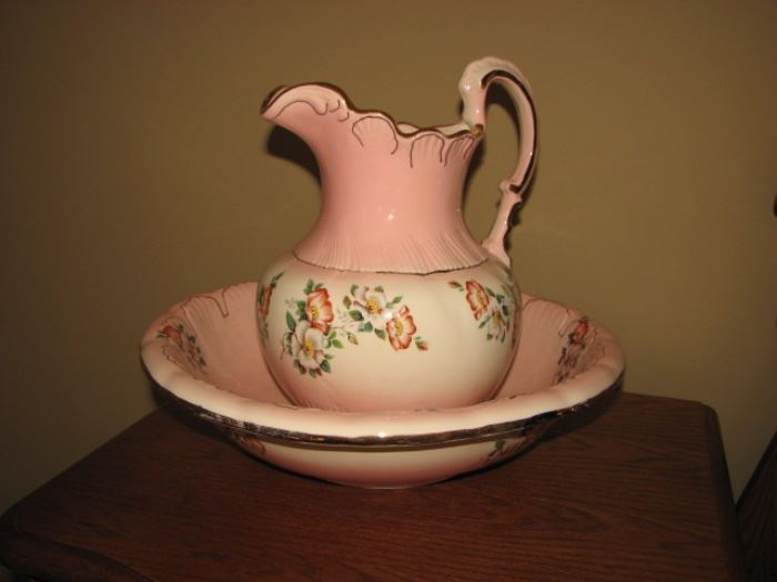 pitcher with bowl