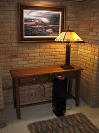 arts & crafts lamp & table