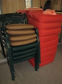 outdoor chairs, sunbrella cushions