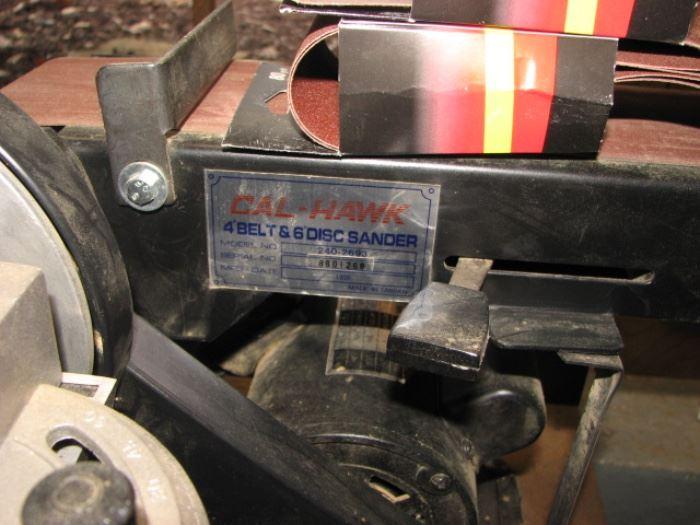 Cal-Hawk belt & disc sander