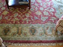 Patina rug, approximately 10' X 13'