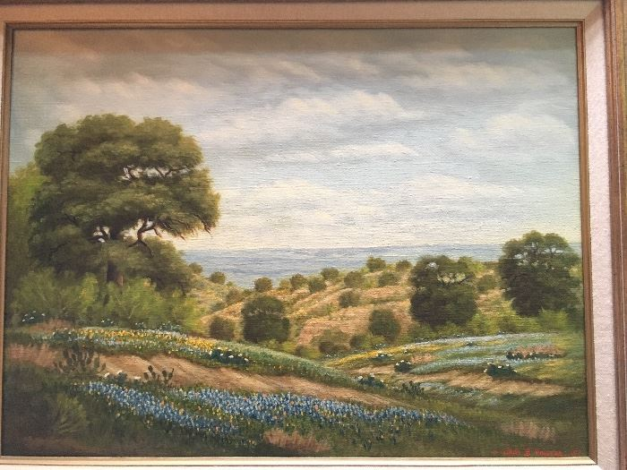 Hill Country painting, oil on canvas by John F. Powers