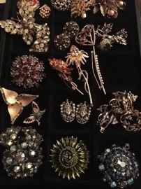 signed costume jewelery from the 40's 50's and 60's