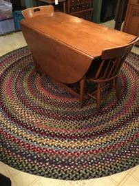 round woven ribbon rug