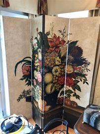 Large Painted screen