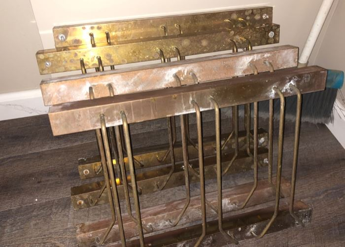 Copper ceiling glass holders