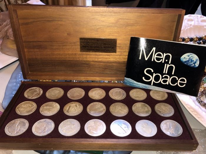 Men In Space collectible silver coins
