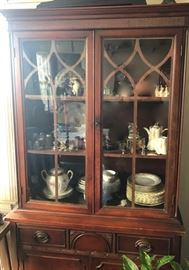 China cabinet, china, serving pieces