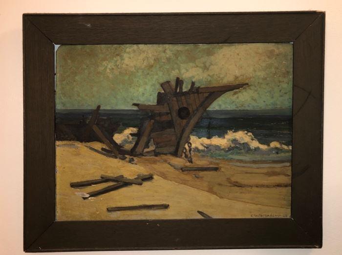 Wreckage at sea