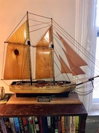 Phantom ship with wooden sails