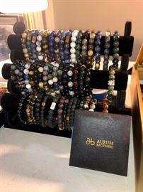 Men's Aurum Brothers sterling & stone bracelets