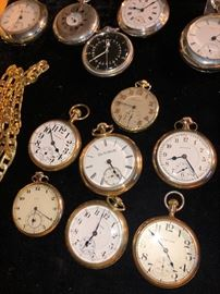 Gold plated pocket watches