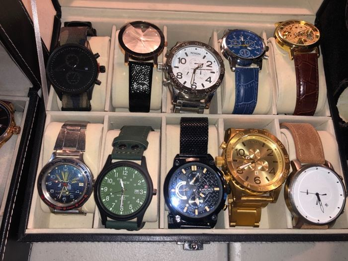 Lots & lots of men's watches