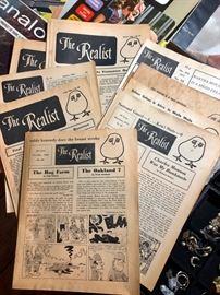 Vintage 1970's The Realist magazines