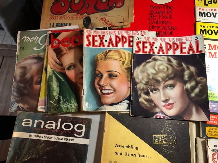 Vintage French Sex Appeal mags from the 1930's