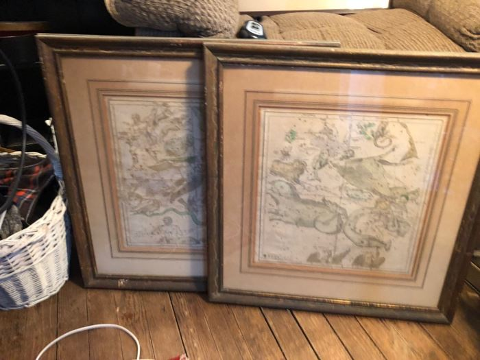 Old constellation maps