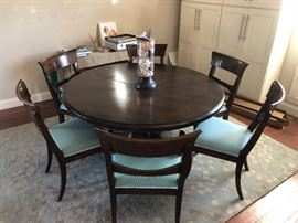 High End Round top pedestal dining table