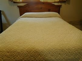 king cotton ivory bedspread