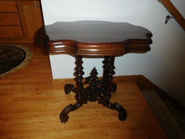 victorian walnut end table