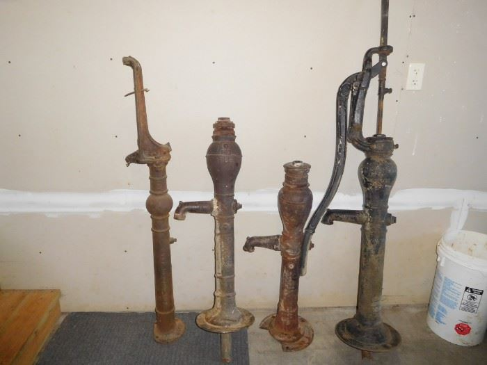One full hand pump, 3 need parts