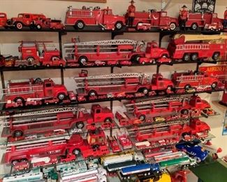 1950's-1960's Tonka Suburban Pumpers, Aerial Ladders, Fire Trucks.