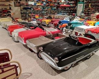 Vintage pedal cars include 1930's -1960's professional restorations and more!