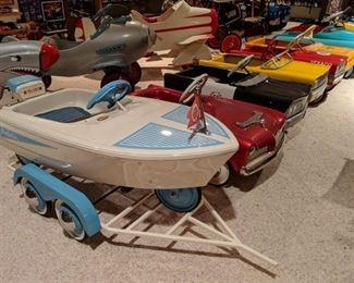 Professionally Restored, 1960 Murray Dolphin Pedal Boat with Custom Trailer