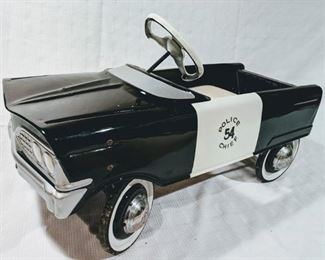 1960 Murray V Front Police Chief Pedal Car (Professional Restoration)