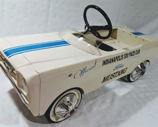 1965 AMF Mustang Indianapolis 500 Pace Car Pedal Car (Professional Restoration)