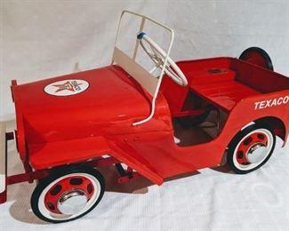 1950 Hamilton Willy's Jeep Texaco Pedal Car (Professional Restoration)