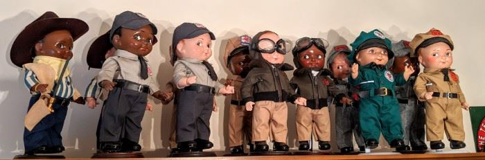Collection of Lil' Phil Station Attendant Dolls