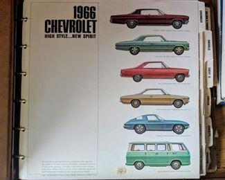 One of many, vehicle options binders.