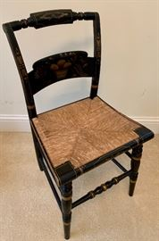 Hitchcock chair, signed and numbered (small amount of wear to the caned seat)