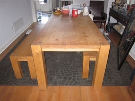BARN TABLE WITH TWO BENCHES