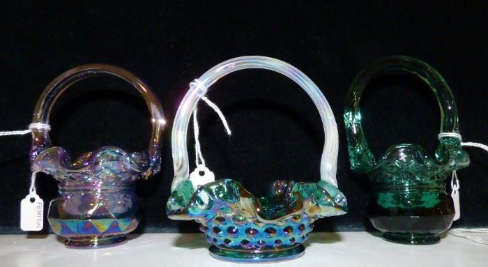 Fenton Miniature Baskets