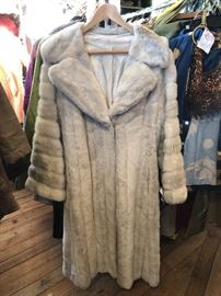 We have fur, leather, wool, and silk - this amazing coat $300