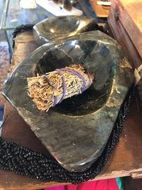 Pure labradorite bowl $100