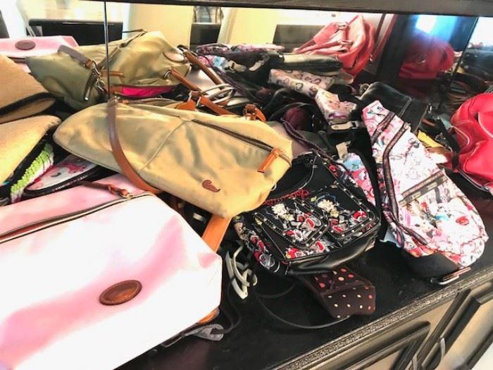 Designer purses / designer handbags including Isabella Fiore, Doony and Burke, Le Sports Sac, etc...