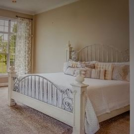 Handsome Wood with an Iron Accent King Size (without mattress)